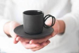 Porcelain espresso cup Twist black