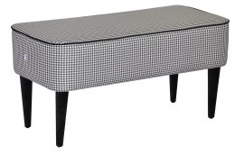 Bench Pastel houndstooth