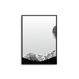 "Grafika ""mountains - white"""