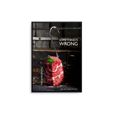 "Framed graphic ""Wrong"""