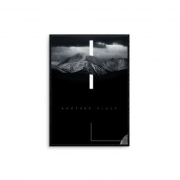 "Grafika ""mountains - black"""