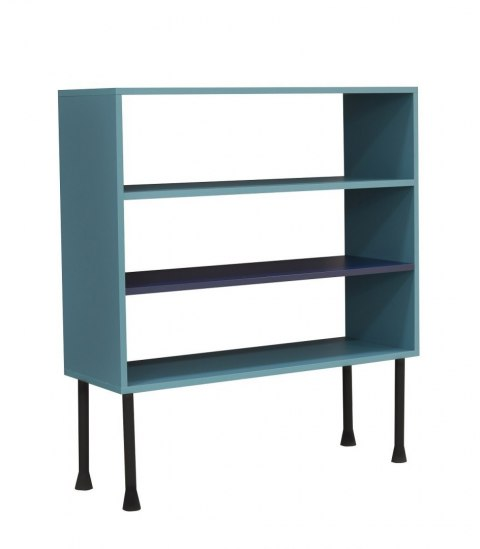 Bookcase Plum with colour shelf