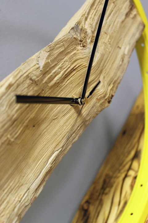Wood Clock Yellow