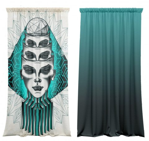 Cotton curtains Abstract