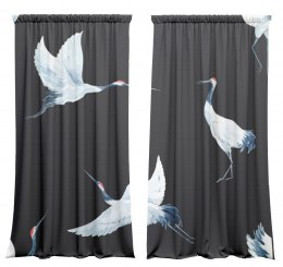 Cotton curtains Cranes