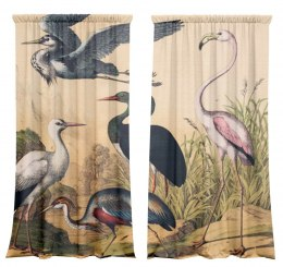 Cotton curtains Birds