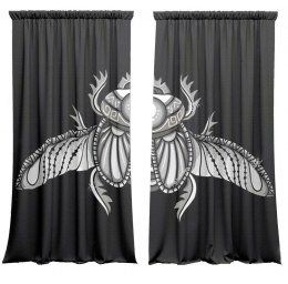 Cotton curtains Scarab