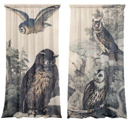 Cotton curtains Owls