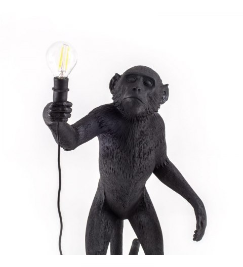 Monkey Seletti Standing Lamp black