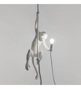 Monkey Seletti ceiling lamp white